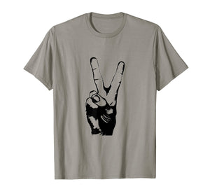 Victory Sign Peace Symbol T-Shirt For Men & Women