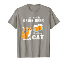 Ladda upp bild till gallerivisning, Funny shirts V-neck Tank top Hoodie sweatshirt usa uk au ca gifts for I Just Want to Drink Beer And Pet My Cat T-shirt 1140330