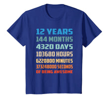 Ladda upp bild till gallerivisning, 12th Birthday Gift T Shirt 12 Years Old Being Awesome Shirt