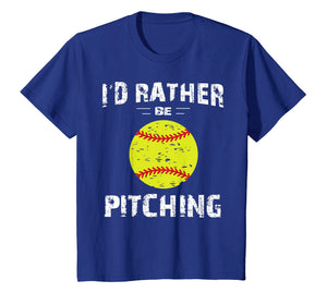 Softball Shirts For Girls Pitcher, I'd Rather Be Pitching