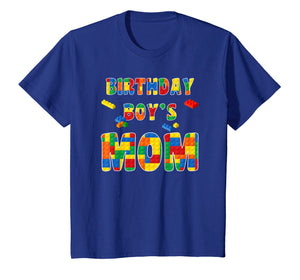 Building Block Mom Of Birthday Boy T-Shirt