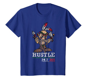 Funny shirts V-neck Tank top Hoodie sweatshirt usa uk au ca gifts for Hustle Hard 247 Shirt with Young Indian Native American Gift 3085824