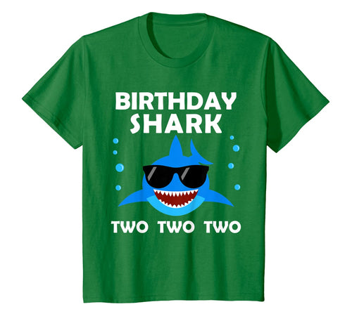 Kids 2nd Birthday Boy Shark Two Matching Party Gifts for Kids T-Shirt 52293