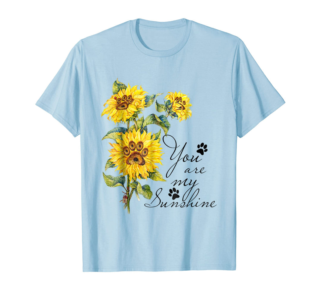 Sunflower Dog Paws T-Shirt Gift For Dog Lovers