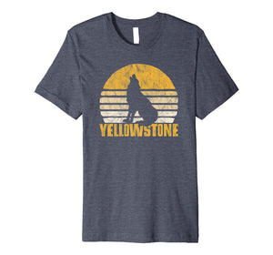 Vintage Yellowstone National Park Wolf Retro T-Shirt