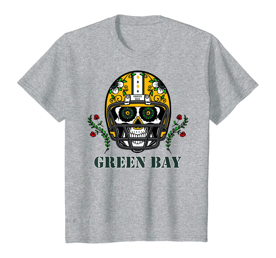 Funny shirts V-neck Tank top Hoodie sweatshirt usa uk au ca gifts for Green Bay Football Helmet Sugar Skull Day Of The Dead T-Shirt 297517