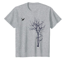 Ladda upp bild till gallerivisning, Tree And Bird T-Shirt Nature Black Graphic Tee