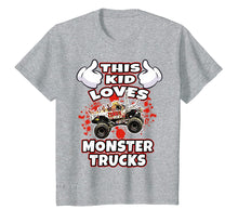 Ladda upp bild till gallerivisning, This Kid Loves Monster Trucks Tee Shirt