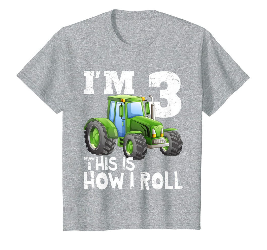 This is how I roll farmer tractor black hoodie choose size unisex Children