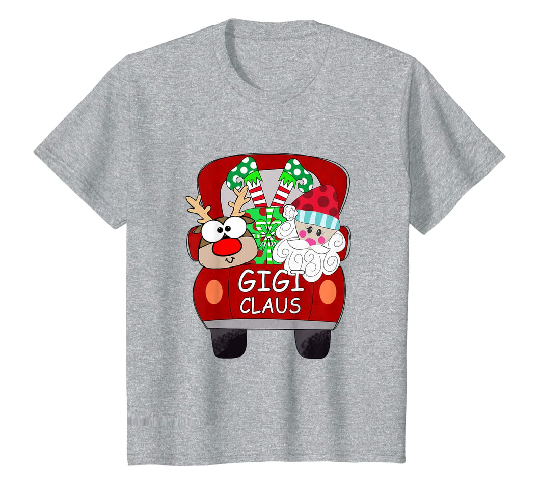 Gigi Claus Santa Car Christmas Funny Gigi Gift For Mom Women T-Shirt 435253
