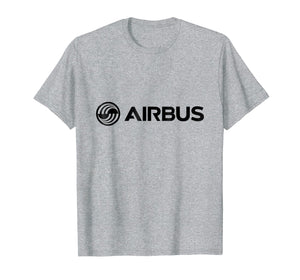 Air-Bus Aircraft Logo Black T Shirt