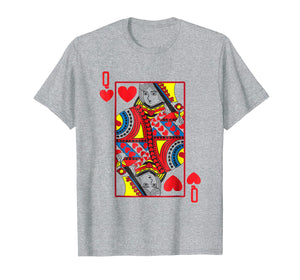 Funny shirts V-neck Tank top Hoodie sweatshirt usa uk au ca gifts for Halloween Playing Card Costume QUEEN OF HEARTS shirt 1668588