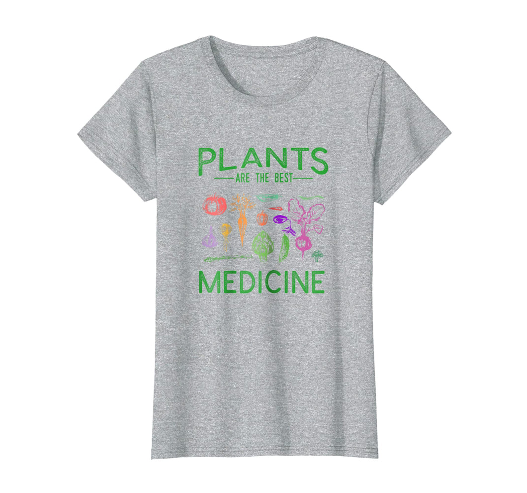 Funny shirts V-neck Tank top Hoodie sweatshirt usa uk au ca gifts for Vegan T-Shirt Plants Are The Best Medicine WFPBD Shirt 260500