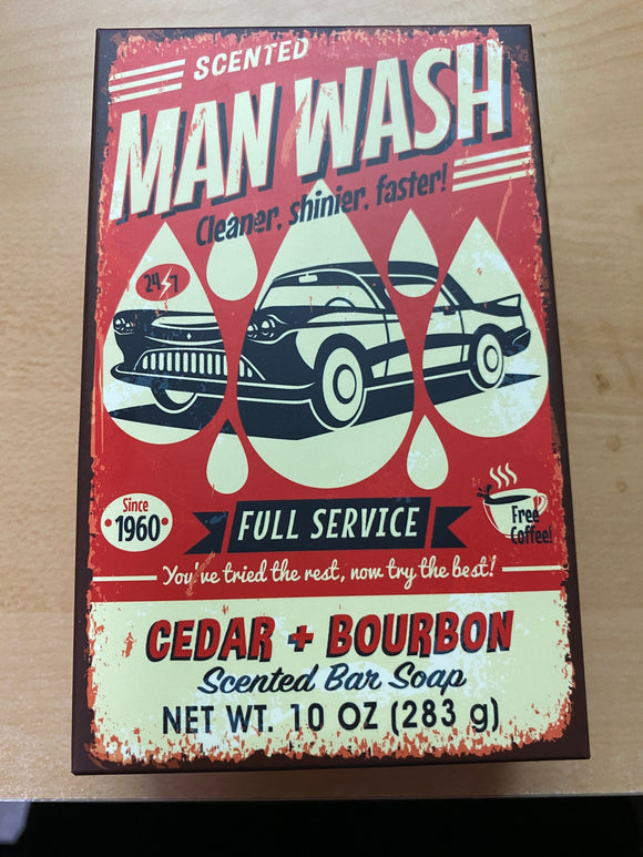 Man Wash Cedar & Bourbon Bar Soap