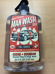 Man Wash Cedar & Bourbon Hand & Body Wash