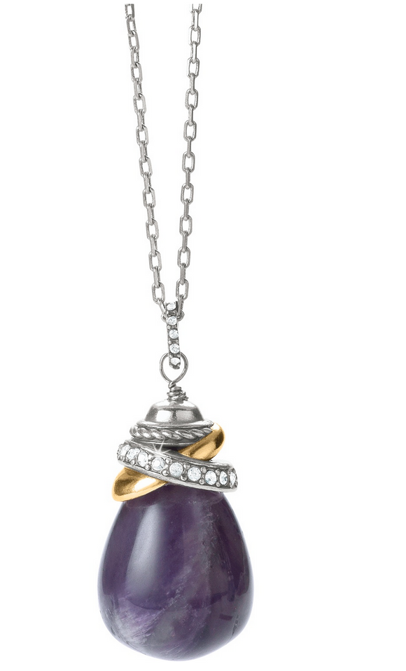 Brighton Neptune's Rings Amethyst Pendant Necklace