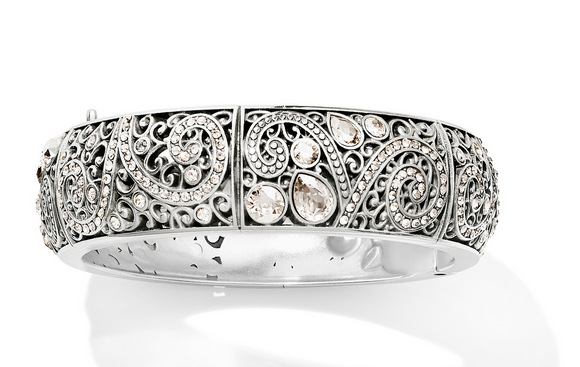Brighton Mumtaz Bloom Hinged Round Bangle