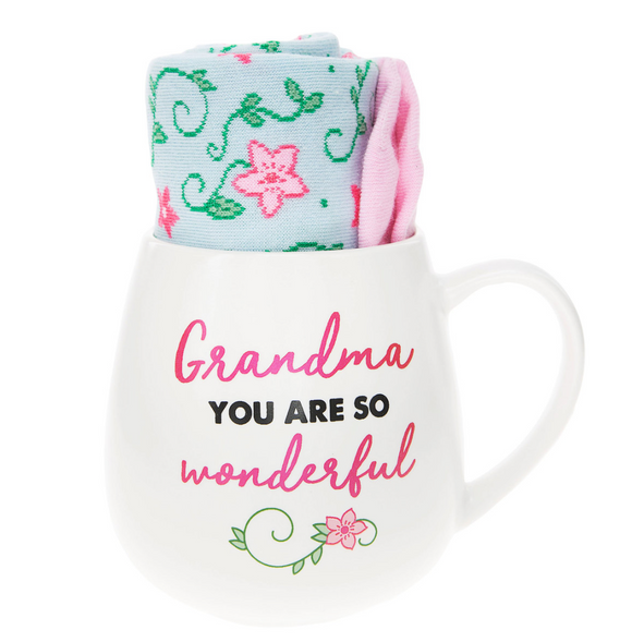 15.5 oz Mug & Sock Set Grandma You are so Wonderful