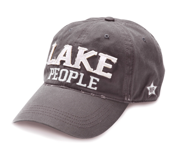 Dark Gray Unisex Adjustable Hiking Hat- Lake People
