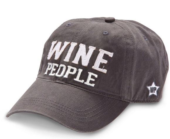 Wine People - Dark Gray Adjustable Hat