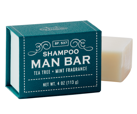 Shampoo Man Bar-Tea Tree & Mint