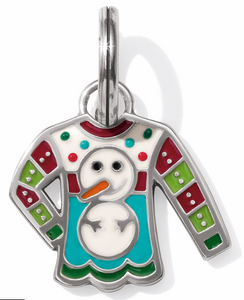 Brighton Snowman Christmas Sweater Charm