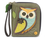 Chala Owl-A Zip Around Wallet