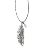 Brighton Contempo Ice Feather Convertible Reversible Necklace