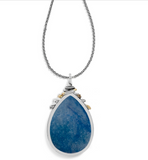 Brighton Neptune's Rings Blue Cabochon Convertible Necklace