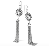 Brighton Telluride Sunburst Tassel French Wire Earrings