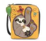 Chala Sloth - Zip Around Wallet