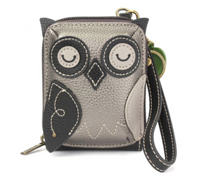 Chala Cute-C - Credit Card Holder / Wallet Wristlet - Owl