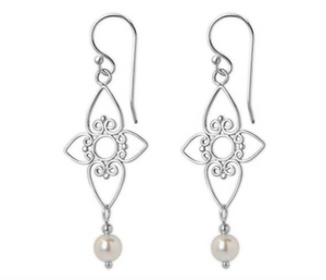 Jody Coyote Entourage Earring Collection: White Pearl