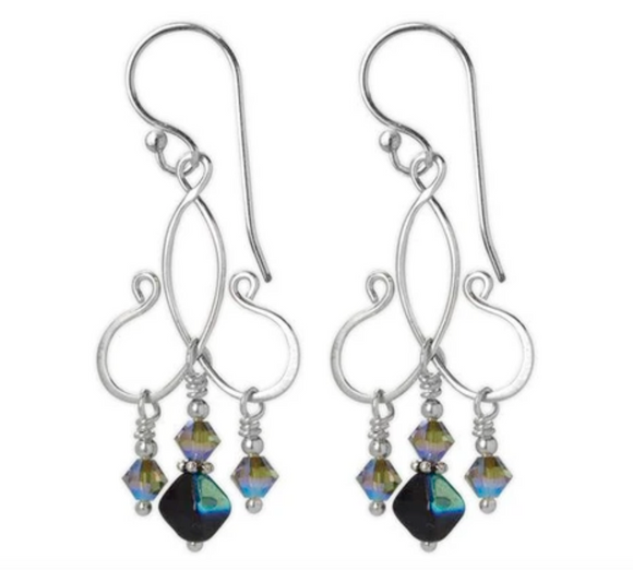 Jody Coyote Entourage Earring Collection: Blue Crystal