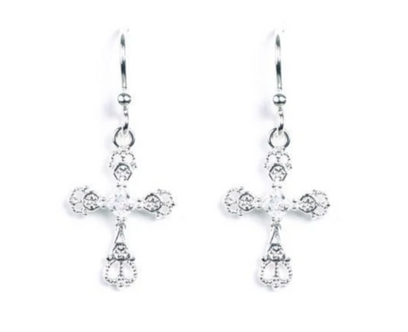 Jody Coyote Spirit Earring Collection : 5 Cubic Zirconia Cross