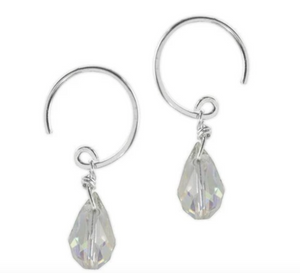 Jody Coyote Sonata Earring Collection: Small Light Green Faceted Bead Drop Earring
