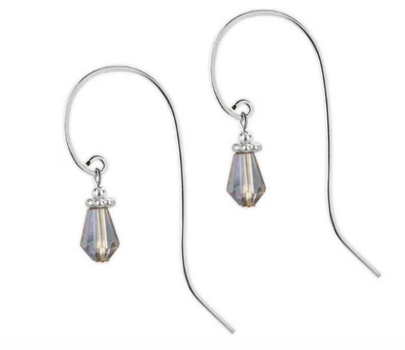Jody Coyote Sonata Earring Collection: Blue Faceted Bead with Long Hook Earring