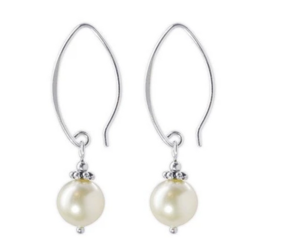 Jody Coyote Fifth Avenue Earring Collection: Pastel White