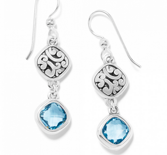 Brighton Elora Gems Sky French Wire Earrings