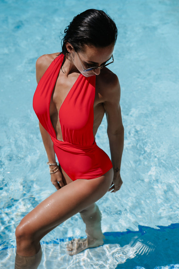 The ST.BARTH Swimsuit - Coral Red