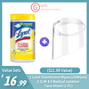 [Best Selling Set] Lysol Disinfectant Wipes(100Wipes)+ DJM 4.0 Medical Isolation Face Shield (1 PC) ($21.99 Value)