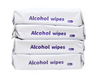 4 Bags/Pack - 60% Alcohol Disinfectant Wet Wipes (4 Bags *50 Wipes)
