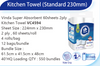 Vinda Super Absorbent 60sheets 2ply Kitchen Towel (4 Rolls)