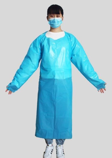 CPE Isolation Gown(Blue)