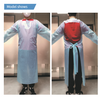[10 PCS/PACK] - CPE Isolation Gown(Blue)