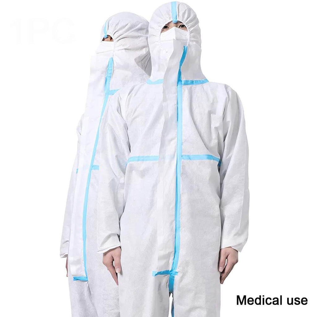 Disposable Protective Coverall Suit -Medical Isolation Gowns With Hood(1PC)