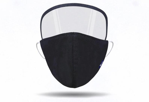Reusable Face Mask with Eye Shield (Black/Blue/Brown/White)
