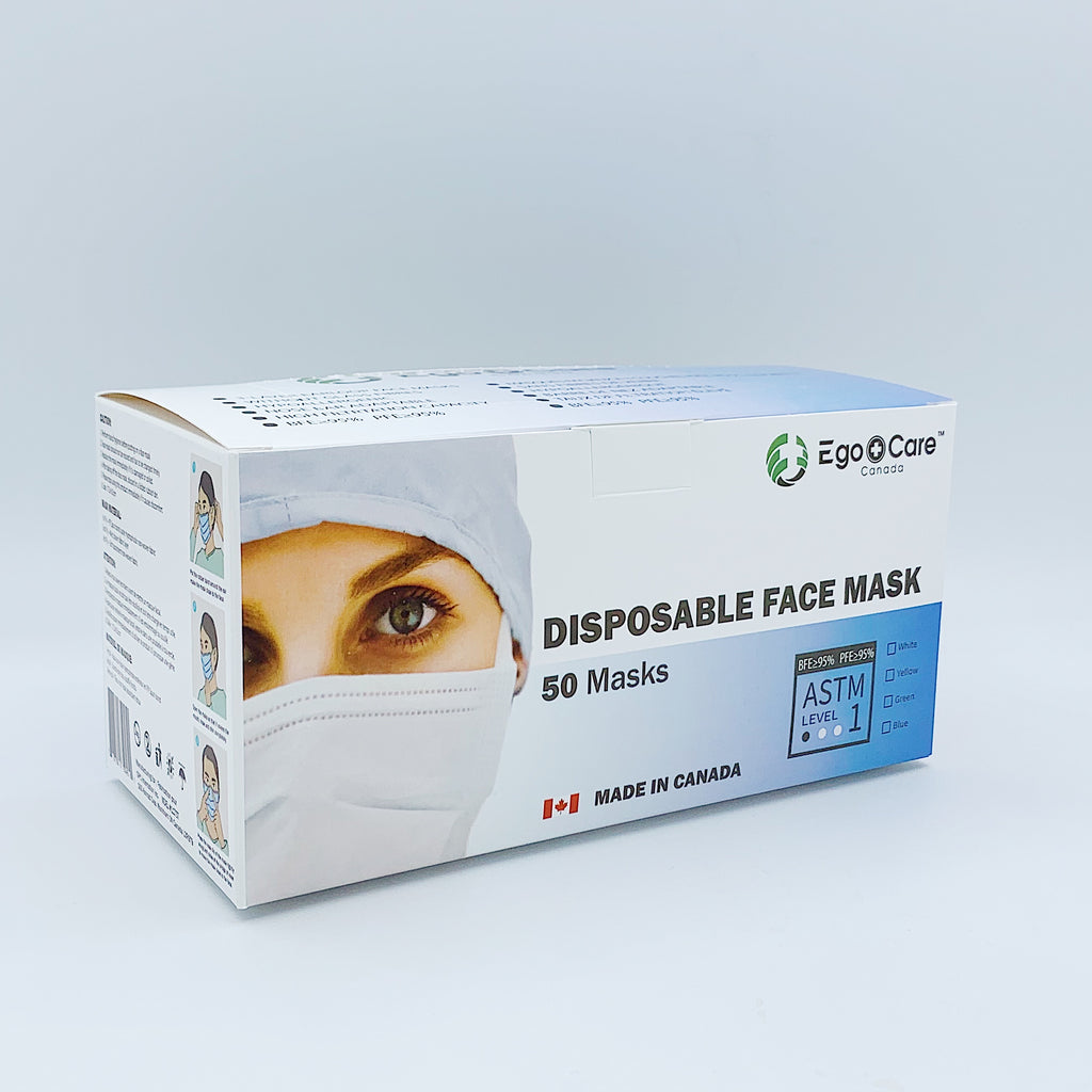 EgoCare ASTM Level 1 Disposable Face Mask (50 PCS)