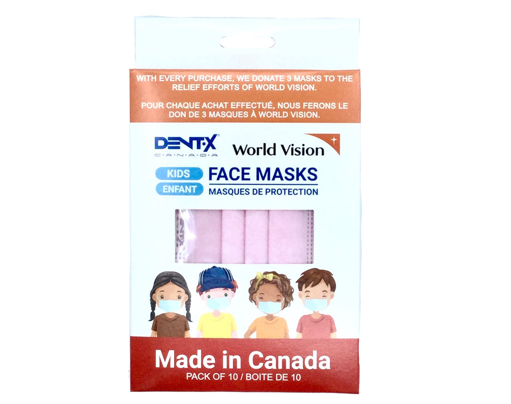 [MAKE IN CANADA]DENTX 3-Ply Kids Mask(10 PCS)
