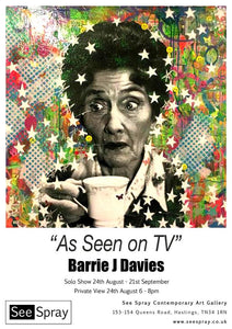 "Barrie J Davies ""As Seen On TV"" Seespray Gallery Hastings"